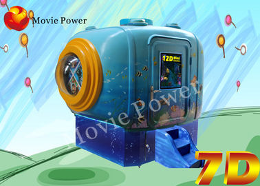 Small Space Great Experience 2 Seat 5D Mini Cinema With Smoke / Wind Effects