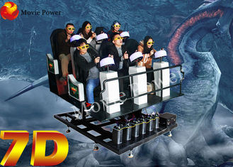 Multiplayer 9 Seat 7D Simulator Cinema 7D Movie Theater 2.25KW 220V