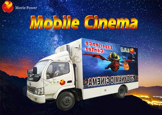 8 / 9 / 12 Seat Theme Film Mobile Cinema Truck With Electric / Hydraulic Platform