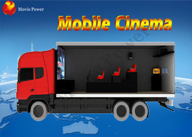 High End Visual Experience 7D Mobile Movie Theater Truck Frightening Games
