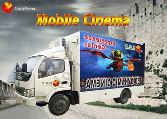 China Beautiful Mobile 7D Cinema 7D Interactive Theater With Motion Chair factory