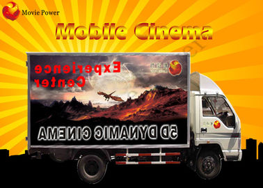 China Interactive 3 DOF / 6 DOF Electric Platform Mobile 7D Cinema With Attack Gun factory