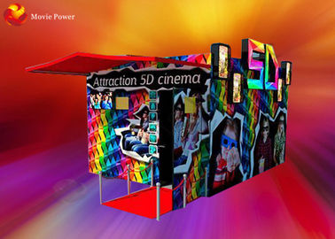High Definition Kino 5D Cinema Cabin Blow Water / Air To Face