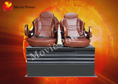 China Cinema / Museum 5D 7D 9D Motion Theater Seats With Back Poking factory