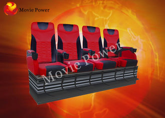 China Pneumatic / Hydraulic Air Injection Leg Sweep 4D Motion Theater Seats factory