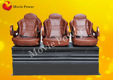 Push Back / Electric Shock 3 DOF Motion Theater Seats / Chair With Wood Frame
