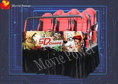 China Original curves 7D movie theater equipment 7d interactive theater factory