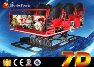 China Amusement Park 7D Cinema Equipment With Shooting Game 6 DOF Electric Platform factory