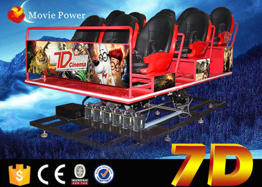 China 220V Popular Interactive 7D Simulator Cinema For Shopping Mall / Game Room factory