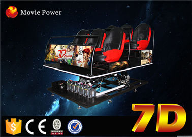 Interactive 7d simulador de cinema with shooting gun for shopping mall
