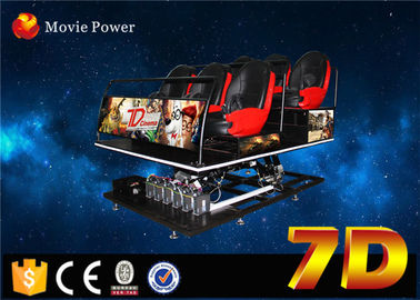 Accurated simulated motion ride 7d simulator with interactive game for Park