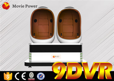 China Dynamic Games 2 Seats 9D VR Cinema / Virtual Reality Roller Coaster Movie supplier