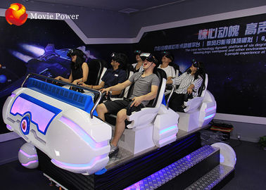6 Seats Cool Shape 9D VR Cinema Electric Rotating Platform 9D VR Simulator