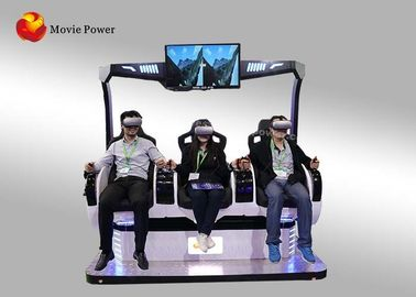 Amusement Virtual Reality Cinema Simulator With 9d Glasses / 3 Seats