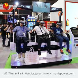China 3 Seats Vertual Reality Experinece Vr Cinema Simulator With Electric Control System supplier