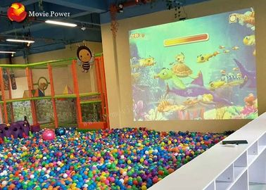 3D Interactive Projection Floor Motion Throwing Ball Simulator Indoor Playground 2m * 3m