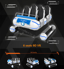 9.5KW 9D VR Cinema , 6 Seats 6 Dof Platform Amusement Park VR Game Machine
