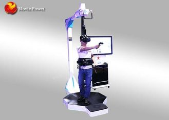 China SGS Standing Up 9D VR Virtual Reality Treadmill Motion Shooting Simulator Games supplier