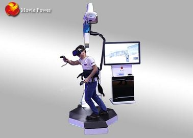 Interactive Shooting Game Standing Up 9D VR Walking Platform 1320 * 1060 * 2340mm