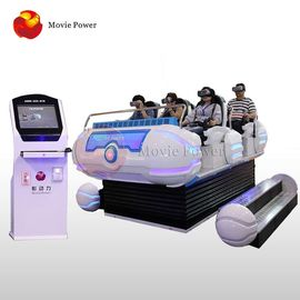China good quality 6 Seat Damily Game 9D VR Cinema 10 Square Meter Area  ISO9001 SGS on sales