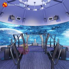Room Size 360 Degree Screen Rotating Platform Orbit Cinema 4D 5D Theater