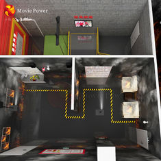 Dynamics Fire Safety Simulator Motion Platform Gaming Equipment
