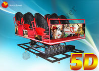 3D Glasses Dynamic Rain Fire 5D Movie Theater With Body Motion Seater supplier