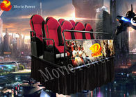 Professional 2.25KW 6/9/12 Chairs 5D Movie Theater With Free Movies