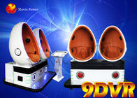 China Funny games amusement park equipment 2 seat 9D VR simulator virtual reality double seats egg cinema factory
