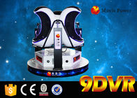 China Electric System 220V Motional 9D Egg Virtual Reality 3 Seats Made of Fiberglass factory