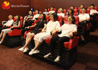 China High Profit Red White Movement Chair 12 Special Effects 4D Mobile Truck Cinema company