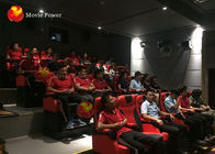 100 Seats 4D motion Theater Genuine Leather + Fberglass Material