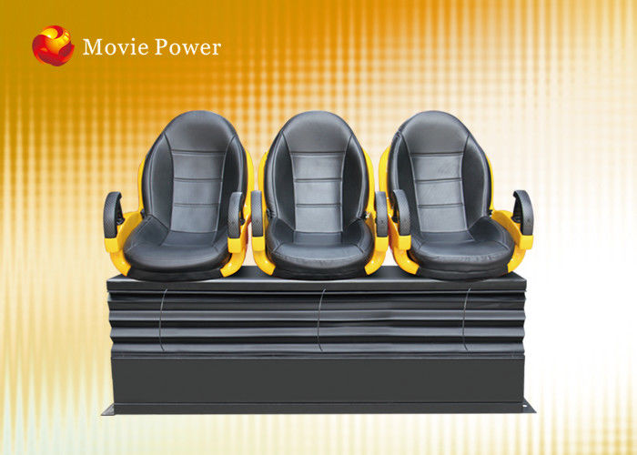 6 DOF Electric Platform XD Theatre 7D Cinema Equipment Blow Water To Face
