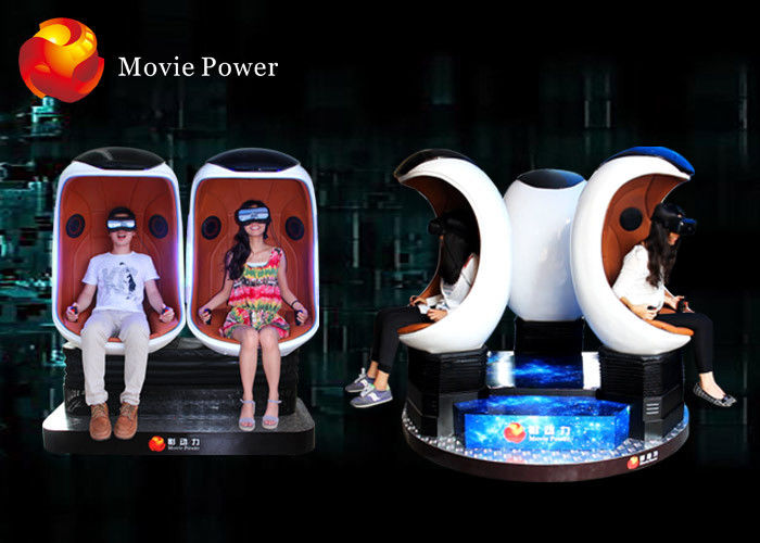 China Electric System 9D VR Cinema Egg Cinema Equipment For Park / Busy Street factory
