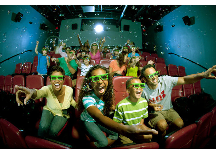 China Luxury Commercial 4D Theater,4D Immersive Movie Cinema With 7.1 Sound  Special Effect  3dof Electric Platform 4D Theater factory