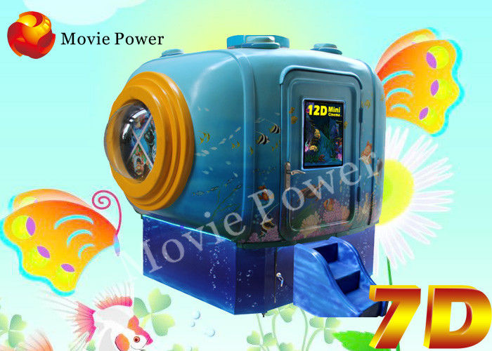 Small 2 Seat 5D Mobile Movie Theater For Children Game Center