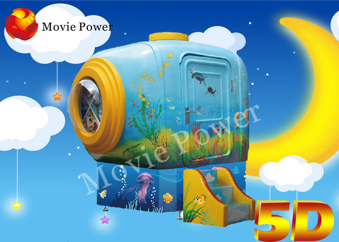 Luxury Sofa Seat Cute HD LCD Display 5D Moving Theater Cabin For Children