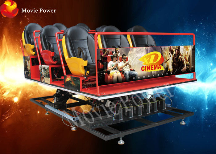 Full set 6-12 Dynamic Seats 5d Mobile Cinema With Specially Effect supplier