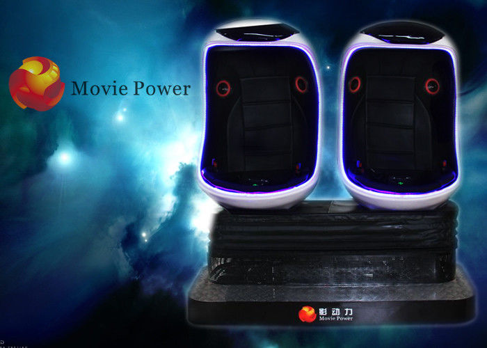 China The Best Virtual Reality Headset 9D VR with Motion Platform 3 Seats 360 Degree egg VR Cinema Simulator factory