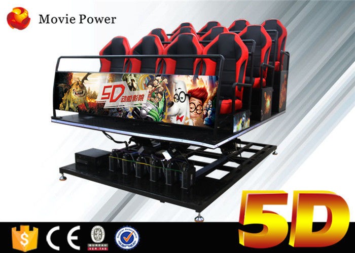 China Electric System 5D Cinema Equipment Motion Simulator 5D Motion Theater With Motion Seats factory
