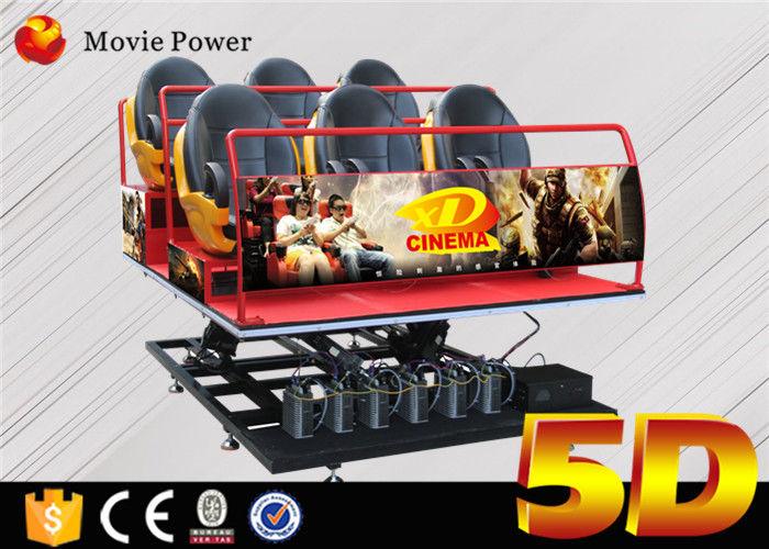 6Dof Flight Simulator Motion Platform 5D Movie Theater With
