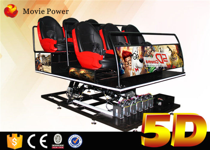 Theme Park Equipment 5d Cinema Motion Seat 6Dof 5D Cinema