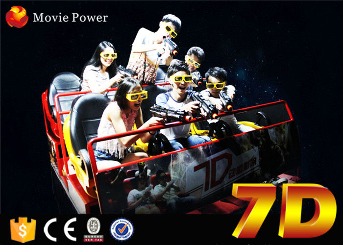 China Electronic cinema system 7d rider cinema with interactive game for children factory