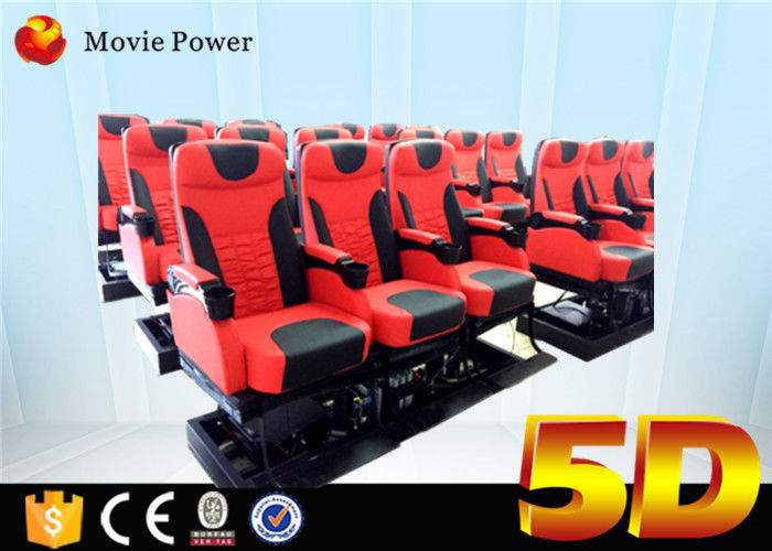 China 6 / 9 / 12 Seats 5d Cinema System 6 Dof Platform large 5d Theater 5d Cinema Equipment factory