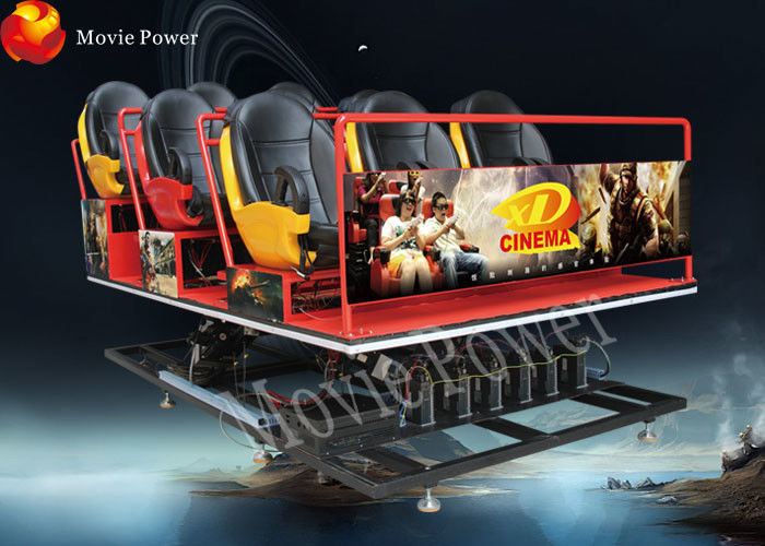 China 6 9 12 Seats 7d 8d 9d action cinemas accurate 6-dof motion simulator 7d shooting cinema factory