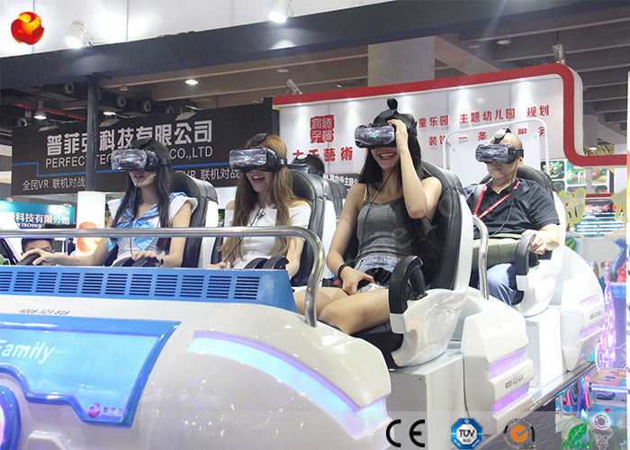 China Multiplayer Game Machine 9D VR Family Cinema with 360 Rotated Helmet factory