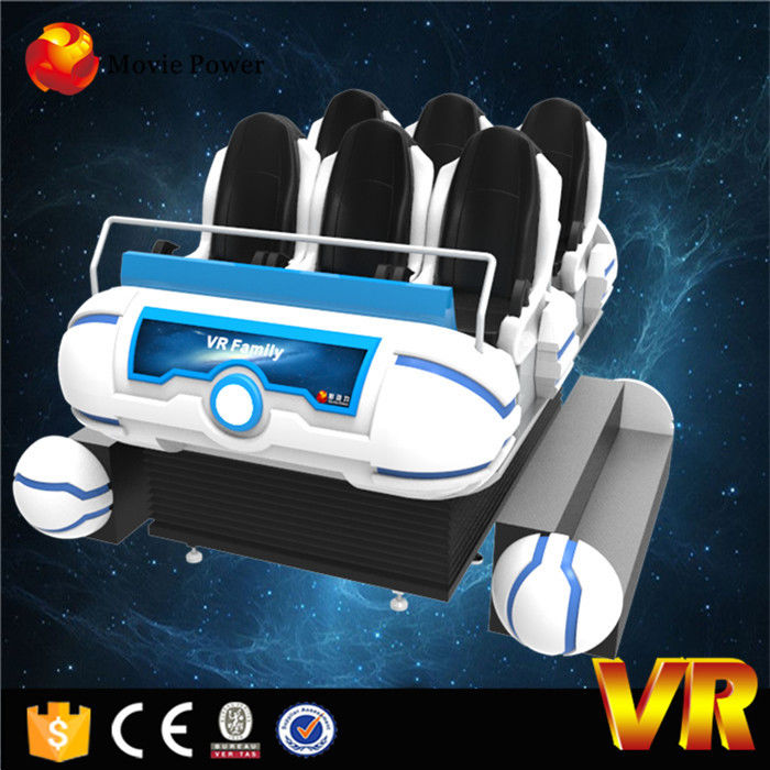 Six Seats Player 9d VR Cinema Looks Immersive HD Movies 9d Movie Theater