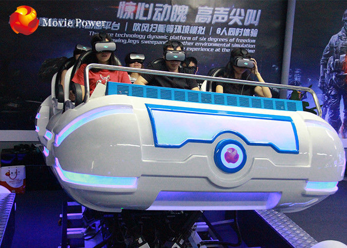 China 360 Degree Rotation Amusement Park 9D VR Cinema 6 Seats Game Machine For Family factory