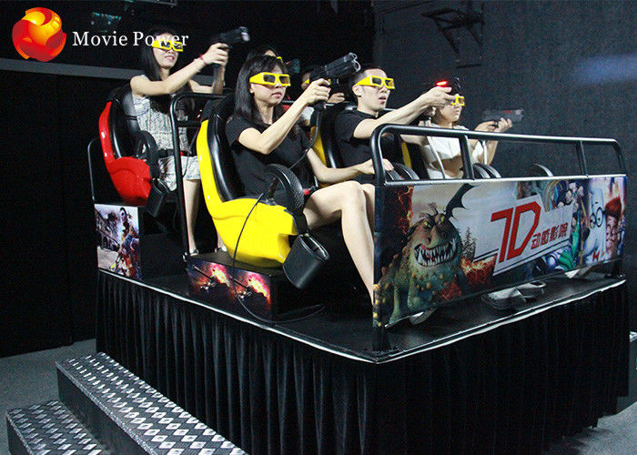 China Amusing Gun Shooting 7D Movie Theater Cabin Creative Entertainment With 3D Glasses factory