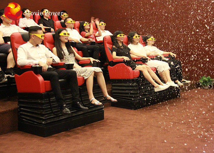 China Most Exciting Roller Coaster 4D Movie Theater Thrill Motion Seats With Electric System factory